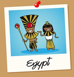 Egypt travel polaroid people vector image