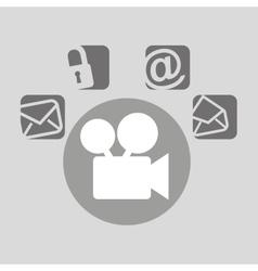 film movie bubble speech social media vector image