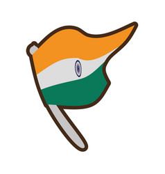 flag of india isolated icon vector image vector image
