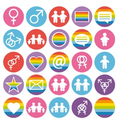 Flat design Family and gays icons vector image