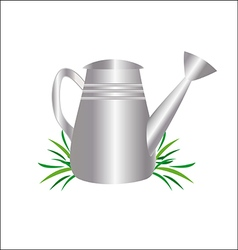 garden watering can drawing vector image vector image