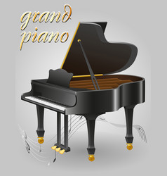 Grand piano musical instruments stock vector