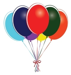 Group of multi colored balloons - vector image