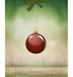grungy vintage christmas vector image