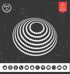 logo design - earth symbol vector image