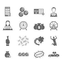 Lottery icon set vector