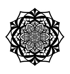 mandala vintage isolated on white background vector image