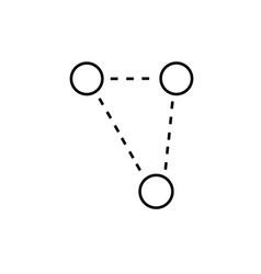 molecular triangle icon vector image vector image