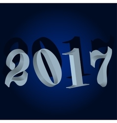 New year 2017 winter background vector