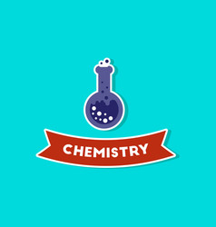 Paper sticker on stylish background chemistry vector