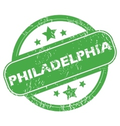 Philadelphia green stamp vector