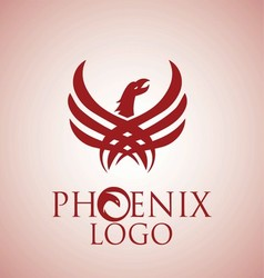 phoenix logo 3 vector image