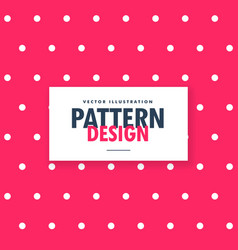 Pink polka dots pattern background vector