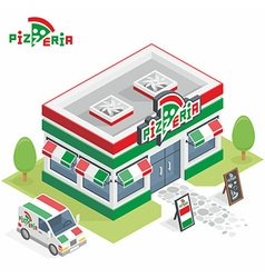 Pizzeria building vector image vector image