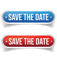 Save the Date button vector image