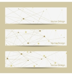 Set of horizontal banners vector image vector image