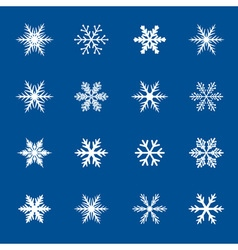 Set of white snowflakes icon vector image vector image