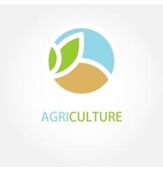 Sign organic farming greengrocer vector