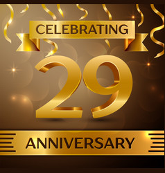 Twenty nine years anniversary celebration design vector