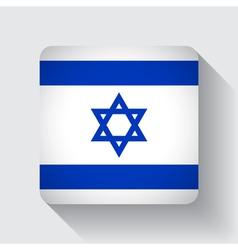 Web button with flag of israel vector