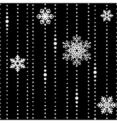 White threads with some snowflakes seamless vector image vector image
