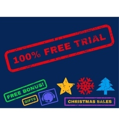 100 percent free trial rubber stamp vector