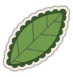 Leaf plant decoration design vector
