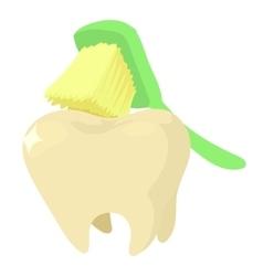 Brushing teeth icon cartoon style vector image