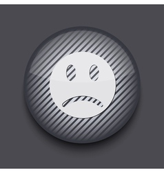 App circle striped icon on gray background eps 10 vector