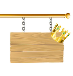 crown sign vector image