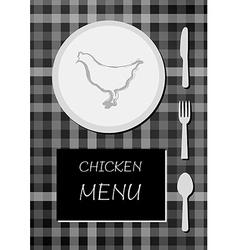 chicken menu vector image