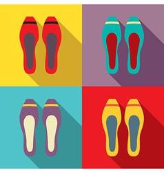 Women Flat Shoes vector image
