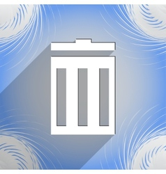 Recycle bin icon symbol flat modern web design vector