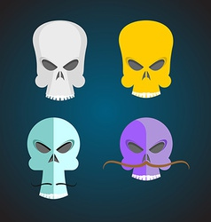 Set skull cartoon vector