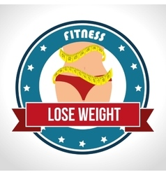 Fitness healthty lifestyle design vector
