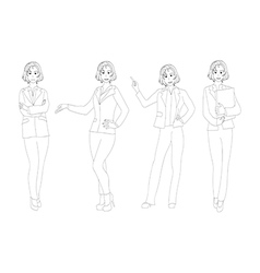 Business woman full body vector