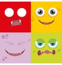 Cartoon expression face vector