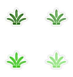 concept stylish paper sticker on white background vector image