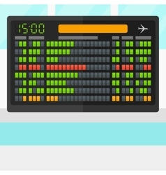 Background of schedule board vector