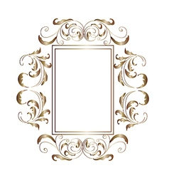 Victorian aluminum frame - vector
