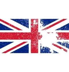 Flag of the great britain vector
