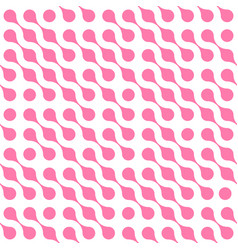 Abstract background of pink connected dots in vector