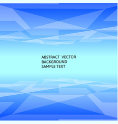 Abstract blue geometric polygonal background with vector