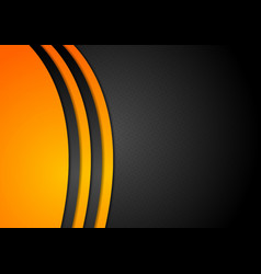Black and orange corporate background vector