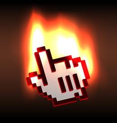 Blazing hand computer cursor vector