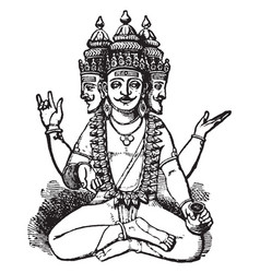 Brahma vintage vector