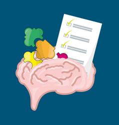 Brain inspired in big ideas vector
