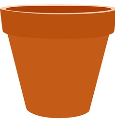 Brow flower pot vector image
