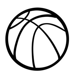 cartoon image of basketball ball vector image