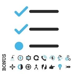 Checklist flat icon with bonus vector